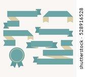 blank ribbon templates. flat... | Shutterstock .eps vector #528916528