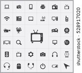 tv icon. device icons universal ... | Shutterstock . vector #528917020