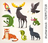 Colorful Cartoon Animals From...