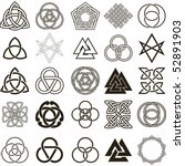 set of symbols icons vector.... | Shutterstock .eps vector #52891903