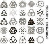 set of symbols icons vector.... | Shutterstock .eps vector #52891903