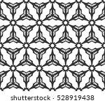 monochrome geometric seamless... | Shutterstock .eps vector #528919438