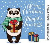 merry christmas and happy new... | Shutterstock .eps vector #528919579