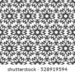 monochrome geometric seamless... | Shutterstock .eps vector #528919594