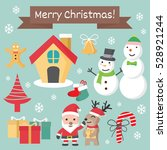 Christmas character set, Chirstmas cartoon collection,  vector illustration
