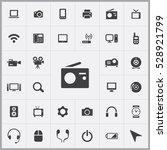 radio icon. device icons... | Shutterstock . vector #528921799