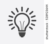 light bulb line icon vector ... | Shutterstock .eps vector #528923644