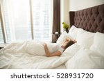 young woman sleeping... | Shutterstock . vector #528931720