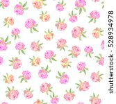 floral seamless pattern with... | Shutterstock . vector #528934978