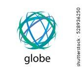 vector logo globe | Shutterstock .eps vector #528936250