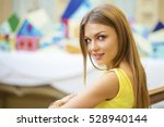 portrait close up of young... | Shutterstock . vector #528940144