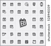 date icon. calendar icons... | Shutterstock . vector #528940339