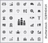 business strategy icons... | Shutterstock . vector #528940414