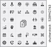 business planning icons... | Shutterstock . vector #528942763