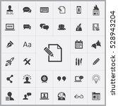 blog icons universal set for... | Shutterstock . vector #528943204