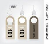 door hanger tags with key for... | Shutterstock .eps vector #528944050