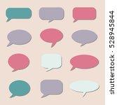 thought frame. speech bubble.... | Shutterstock .eps vector #528945844