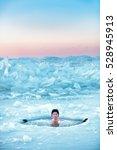 Winter Swimming In Frozen Sea....