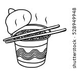 instant noodles   cartoon... | Shutterstock .eps vector #528949948