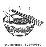 noodles bowl   cartoon vector... | Shutterstock .eps vector #528949960
