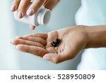 medicine. closeup of female... | Shutterstock . vector #528950809