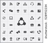 communication icons universal... | Shutterstock . vector #528952234