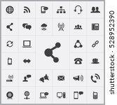share icon. communication icons ... | Shutterstock . vector #528952390