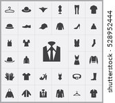 suit icon. clothes icons... | Shutterstock . vector #528952444