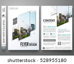 Portfolio design template vector.Minimal brochure report business flyers magazine poster.Abstract black and white square cover book presentation.City concept on A4 size layout. | Shutterstock vector #528955180
