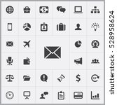 email icon. business icons... | Shutterstock . vector #528958624
