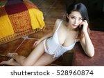 sexy asian japanese beautiful... | Shutterstock . vector #528960874