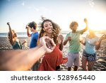 multi ethnic group of friends... | Shutterstock . vector #528965440