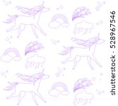 unicorns are depicted in the... | Shutterstock .eps vector #528967546