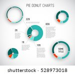 colorful vector pie chart... | Shutterstock .eps vector #528973018