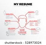vector original minimalist cv   ... | Shutterstock .eps vector #528973024