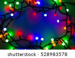 christmas background. lights... | Shutterstock . vector #528983578