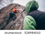 girl training to climb | Shutterstock . vector #528984010