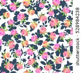 floral seamless pattern with... | Shutterstock . vector #528984238