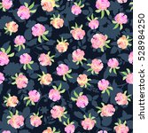 floral seamless pattern with... | Shutterstock . vector #528984250