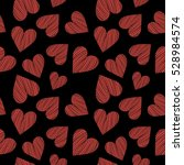 hearts seamless background | Shutterstock .eps vector #528984574
