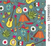 doodles seamless pattern of... | Shutterstock .eps vector #528988003