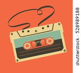 old vintage audio cassette with ... | Shutterstock .eps vector #528989188