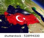 flag of turkey on planet...   Shutterstock . vector #528994330