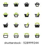 shopping bascket icon set for... | Shutterstock .eps vector #528999244