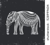indian hand drawn elephant.... | Shutterstock .eps vector #528999604