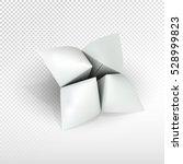 blank paper fortune teller  can ... | Shutterstock .eps vector #528999823
