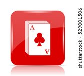 deck of cards icon. deck of... | Shutterstock . vector #529001506