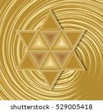 golden david star on abstract...