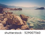 view from the rocky cliffs of...   Shutterstock . vector #529007560