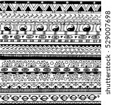 black and white tribal seamless ... | Shutterstock .eps vector #529007698